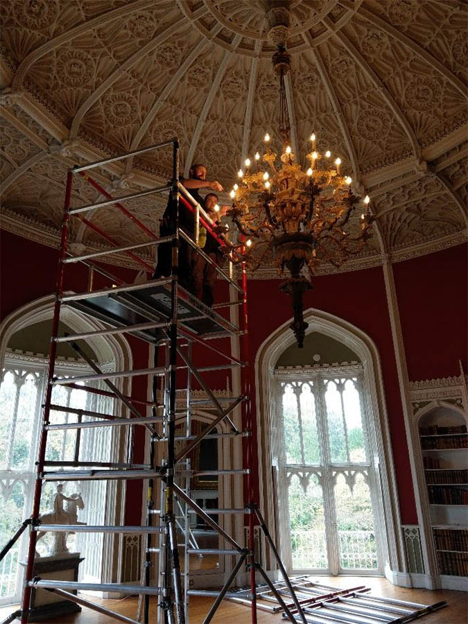 20181127 Phasor Completes Chandelier Re lamping and Maintenance for Slane Castle 3