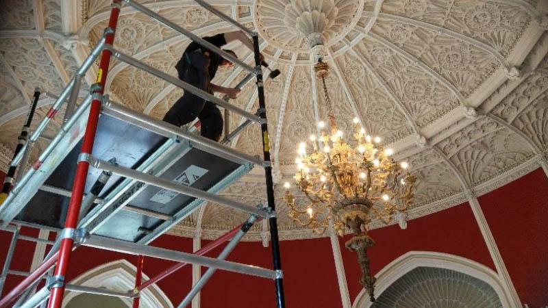 Phasor Completes Chandelier Re-lamping and Maintenance for Slane Castle